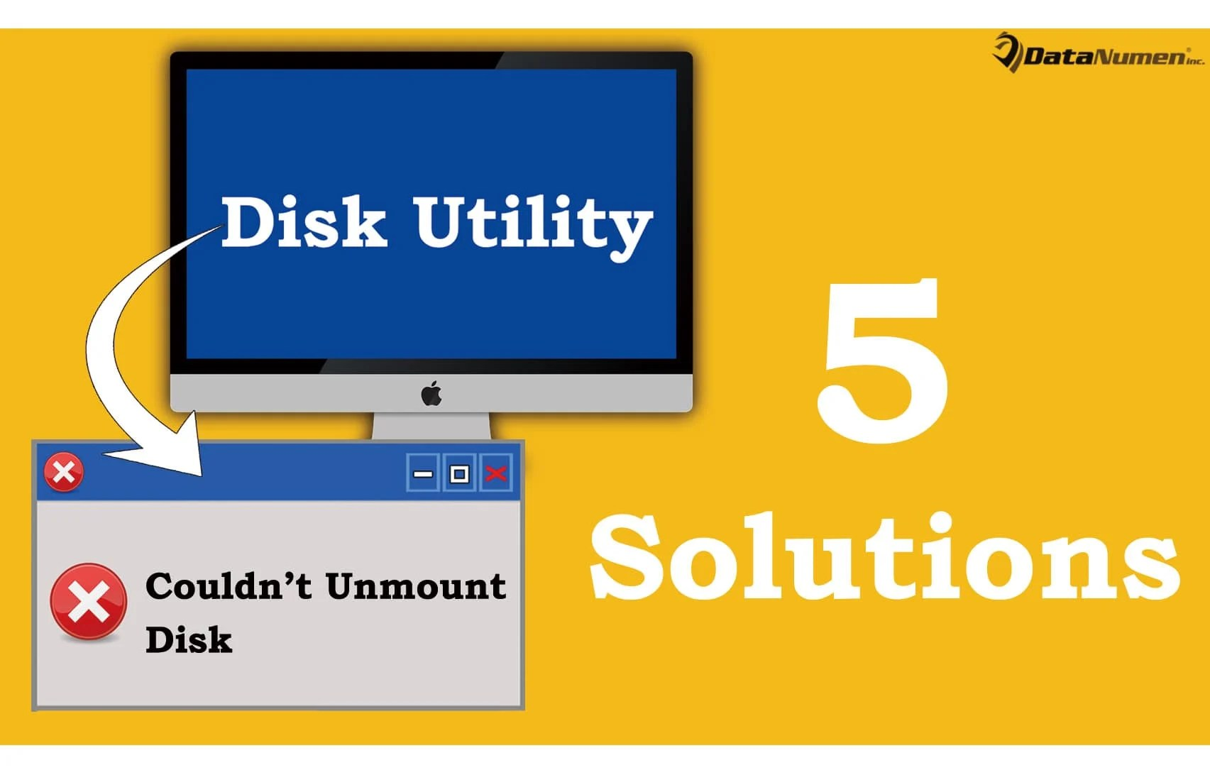 """5 Solutions to """"Couldn't Unmount Disk"""" Error when Using Disk Utility on Mac"""