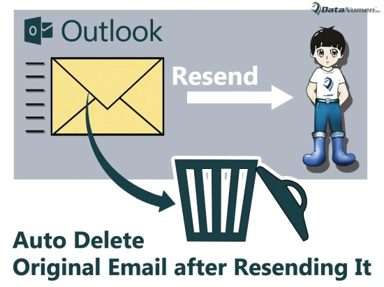 Auto Delete the Original Email after Resending It in Your Outlook