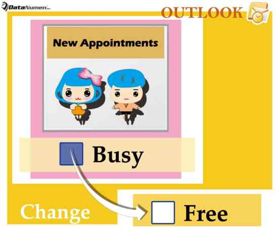 Change the Default Status of New Appointments in Outlook