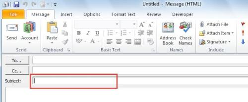 """How To Retrieve Email In Outlook >> How to Default Cursor to """"Subject"""" Field when Creating New ..."""