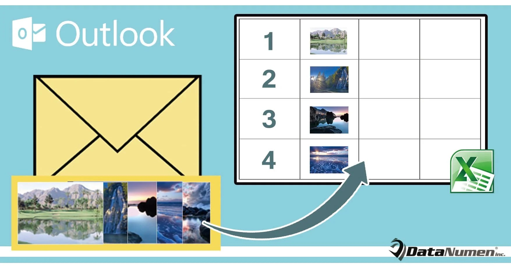 Quickly Export All Image Attachments of an Outlook Email to an Excel Worksheet