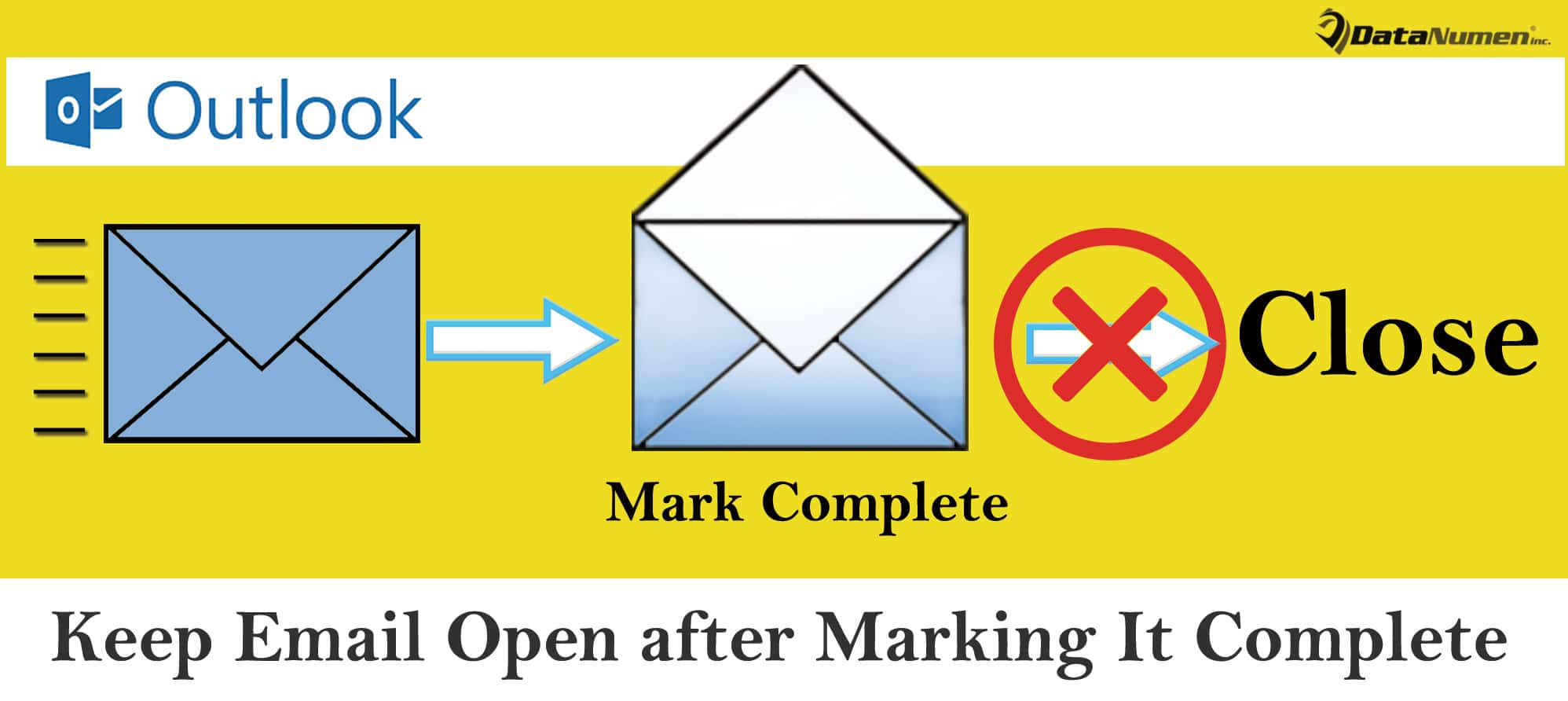 Keep an Email Open after Marking It Complete in Your Outlook