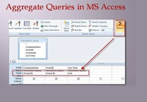 Aggregate Queries In MS Access