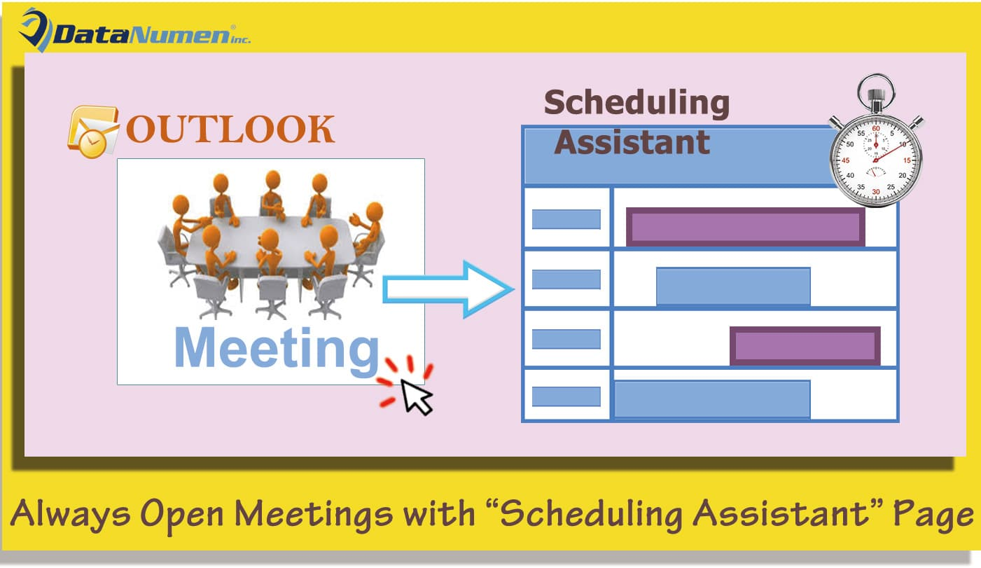 "Always Open Outlook Meetings with ""Scheduling Assistant"" Page"