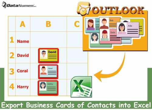 How to quickly export the business cards of outlook contacts into an quickly export the business cards of outlook contacts into an excel worksheet reheart Gallery