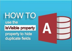IsVisible Property To Hide Duplicate Fields In Ms Access