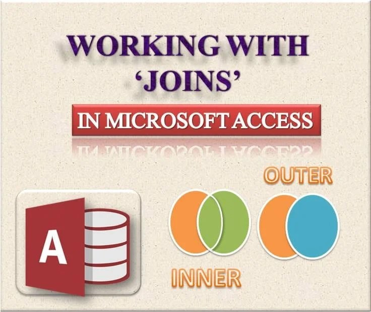 Working With Joins In MS Access