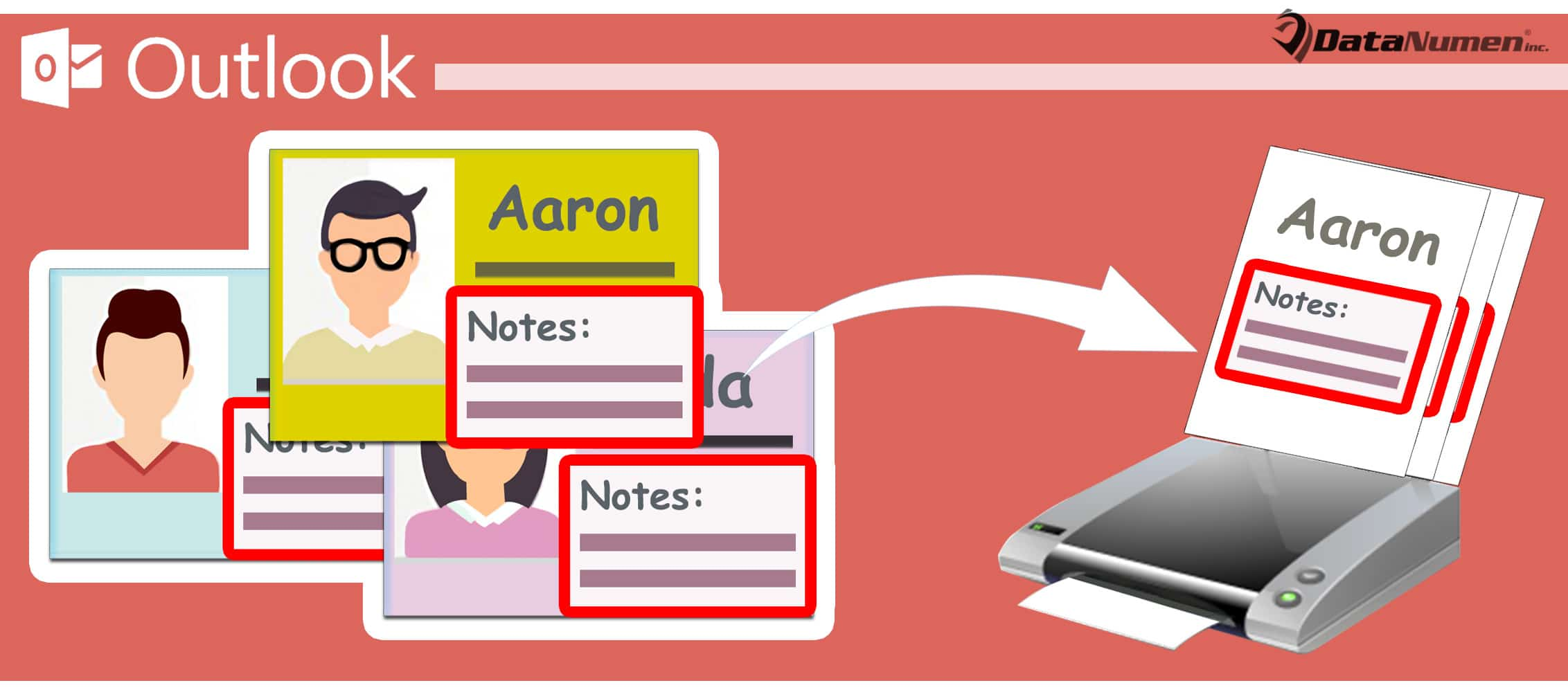 Batch Print the Notes of Multiple Outlook Contacts