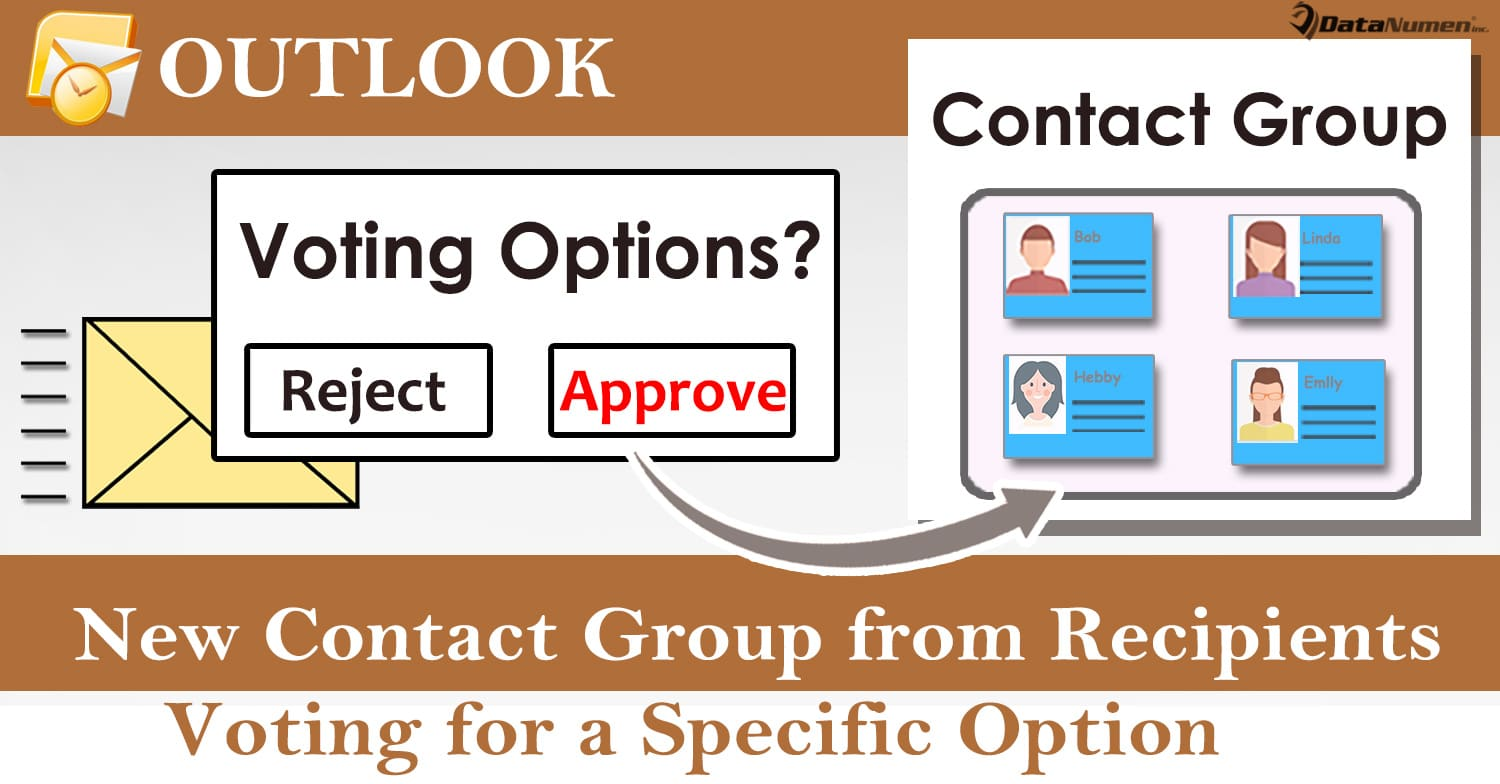 Quickly Create an Outlook Contact Group from the Email Recipients Voting for a Specific OptionHow to Quickly Create an Outlook Contact Group from the Email Recipients Voting for a Specific Option