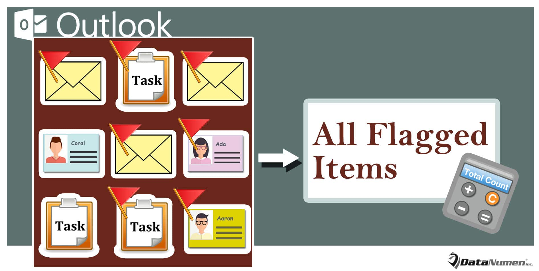 Count All Flagged Items in Your Outlook