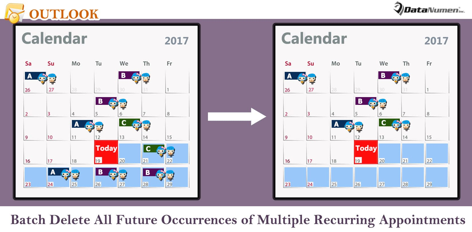Batch Delete All Future Occurrences of Multiple Recurring Outlook Appointments