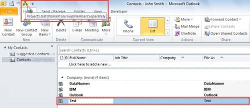 how to send a group email in outlook