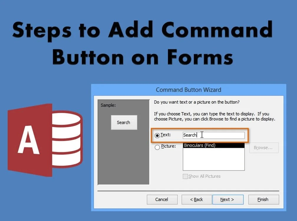 Steps To Add Command Button On Forms