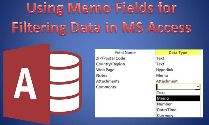 Using Memo Fields For Filtering Data In MS Access