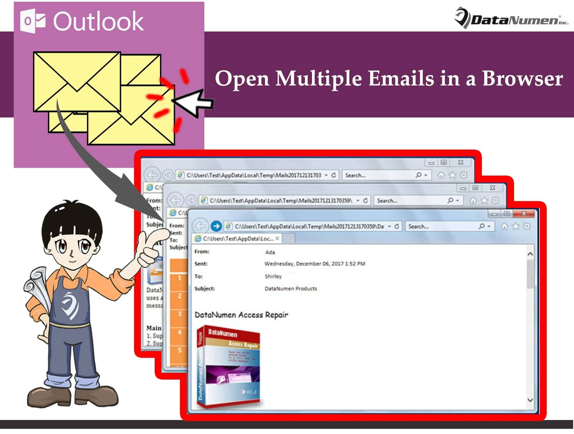 Batch Open & View Multiple Outlook Emails in Browser