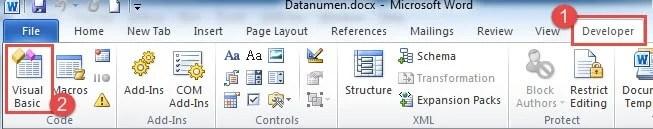 Open Visual Basic