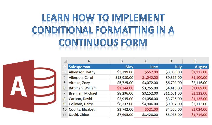 Implement Conditional Formatting In A Continuous Form