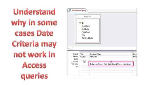 Why In Some Cases Date Criteria May Not Work In Access