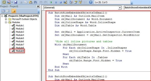 VBA Code - Batch Hide or Show All Embedded Objects