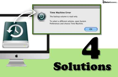 "4 Solutions to ""The backup volume is read only"" Error when Using Time Machine on Mac"