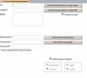 Access Email Database