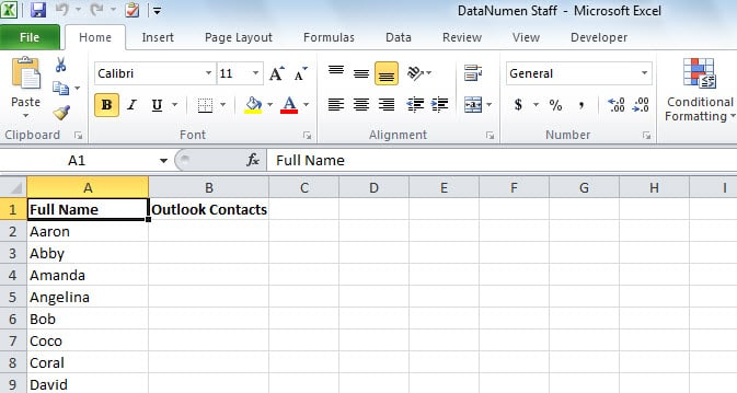 Open Excel File