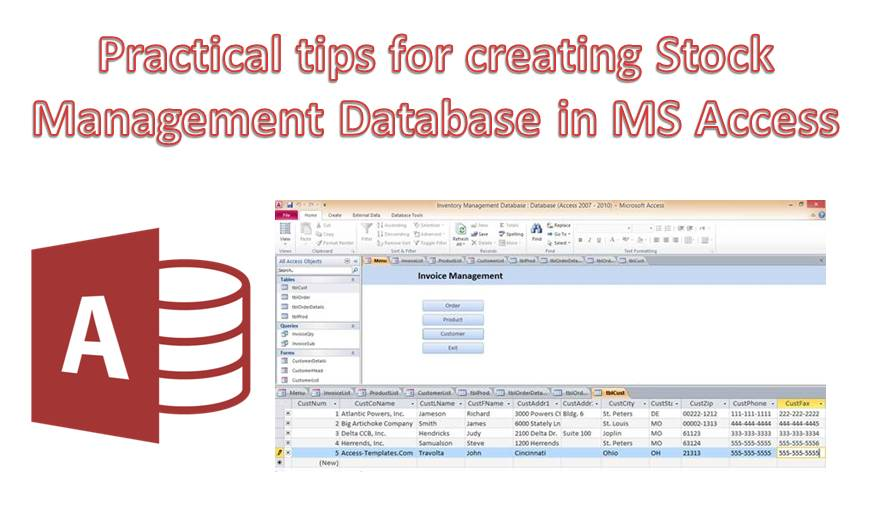 Practical Tips For Creating A Stock Management Database In MS Access
