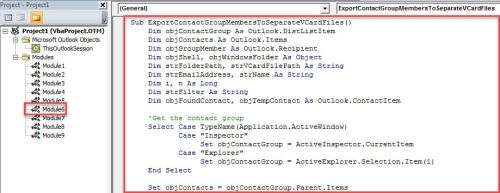 How to Quickly Export All Members of an Outlook Contact Group to