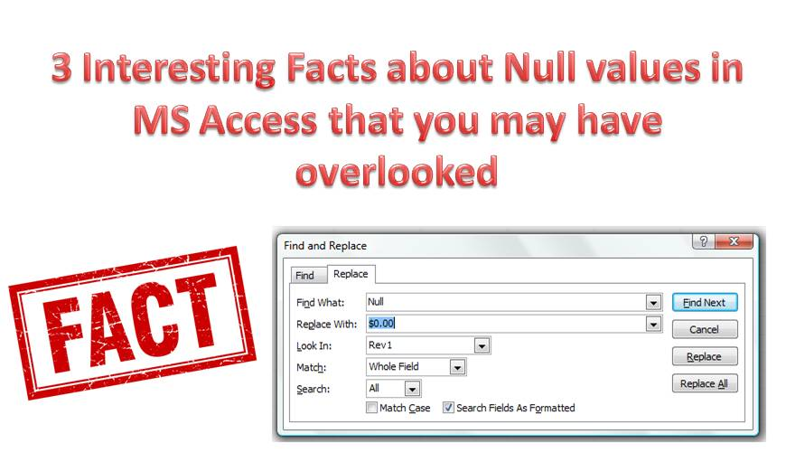 3 Interesting Facts about Null Values in Access that You May