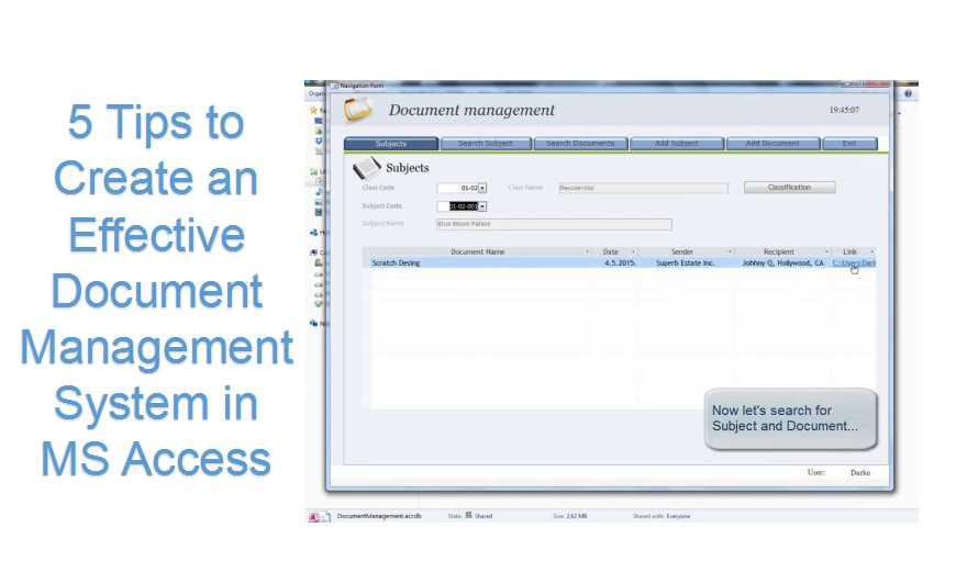 5 Tips To Create An Effective Document Management System In MS Access