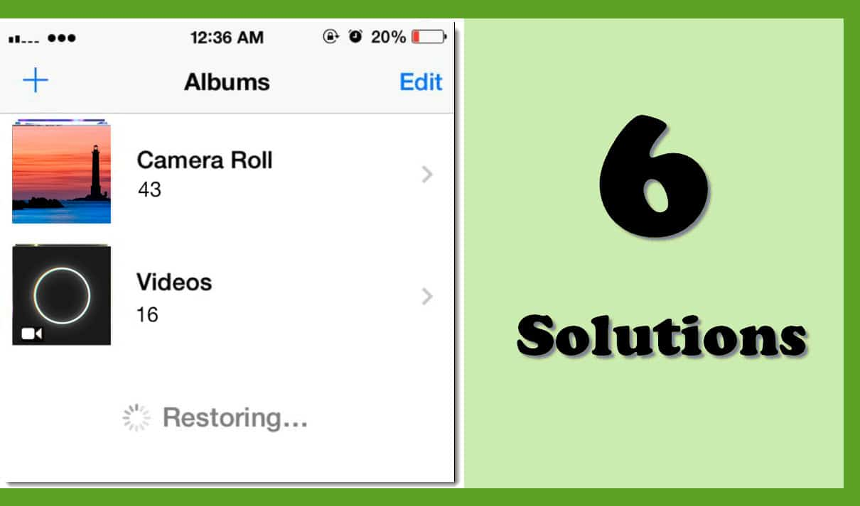 6 Solutions when iPhone Keeps Deleting & Restoring Photos - Data