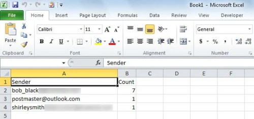 2 Methods to Quickly Count Emails by Sender in Your Outlook