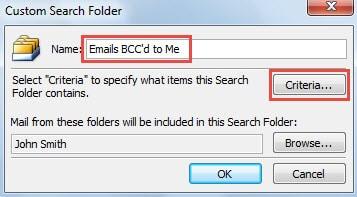 Enter Search Folder Name