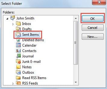 Select Target Folder