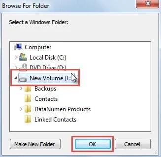 Select Windows Folder