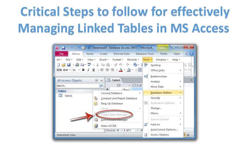 3 Critical Steps to Effectively Manage Linked Tables in MS Access