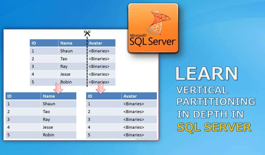 Learn Vertical Partitioning In Depth In SQL Server