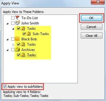 Select Other Task Folders