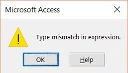 How To Deal With Type Mismatch Error In Ms Access