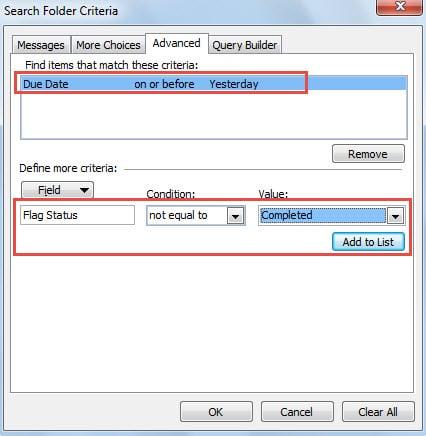Advanced Search Criteria