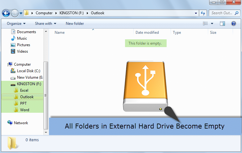 4 Quick Ways to Fix the Issue That All Folders in External Hard Drive Become Empty Unexpectedly