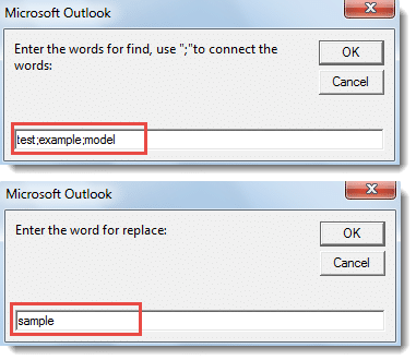 Specify Texts for Find and Replace