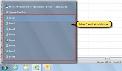 New Excel Workbooks