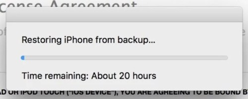 Restoring iTunes Backup Takes Very Long Time