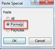 Paste Formats