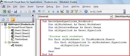 VBA Code - Batch Open All Hyperlinks in a Workbook