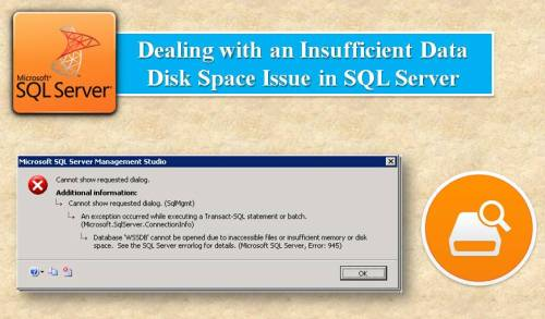 Insufficient Disk Space Issue in SQL Server