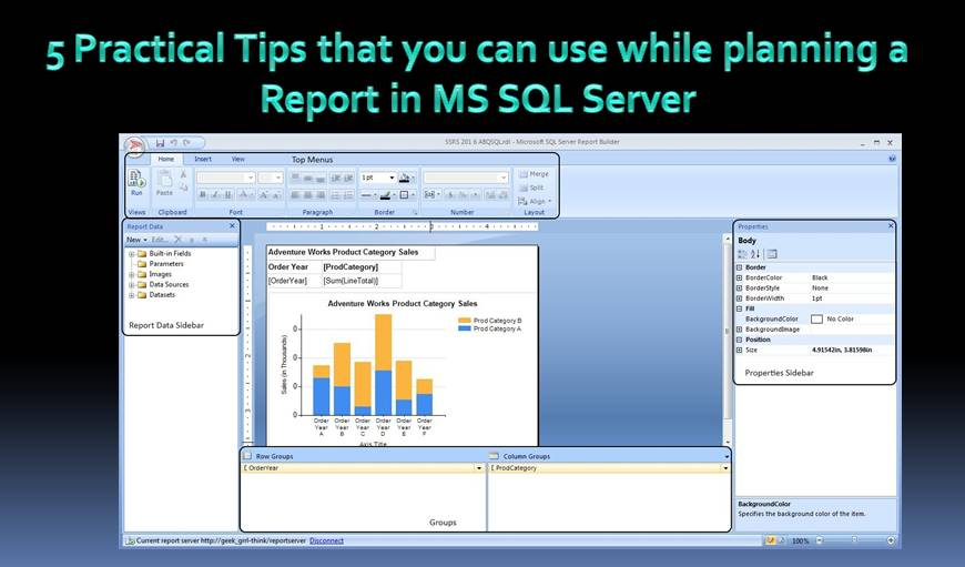 5 Practical Tips for Planning a Report in SQL Server