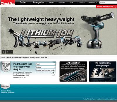 Makita UK New Website