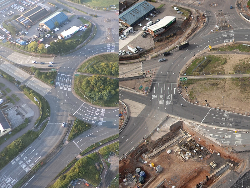 Time Lapse Photography of Tollbar Junction Coventry